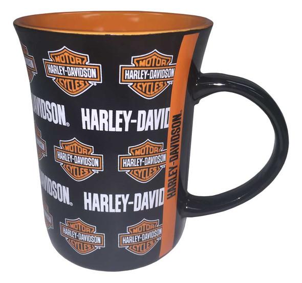 Harley-Davidson Line Up Bar & Shield Logos Coffee Mug, 15 oz. Black HD-LIN-1258 - Wisconsin Harley-Davidson