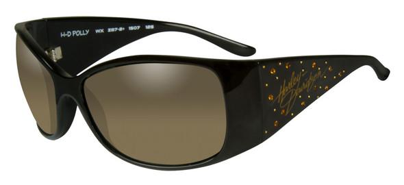 Harley-Davidson Womens Rhinestone Polly Sunglasses,Fade Lens/Brown Frame HRPOL24 - Wisconsin Harley-Davidson