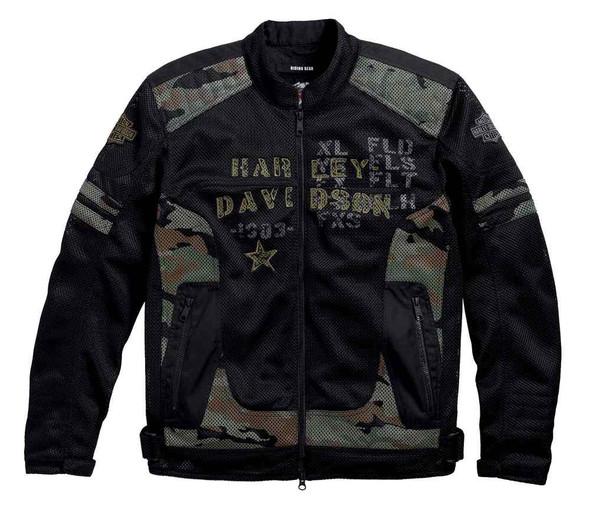 Harley-Davidson Men's Midville Functional Mesh Riding Jacket, Camo 97140-17VM - Wisconsin Harley-Davidson