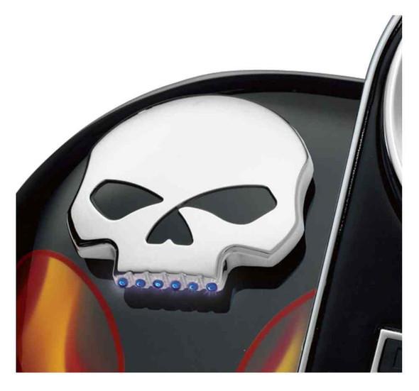 Harley-Davidson Willie G Skull LED Fuel Gauge, Dyna, Softail & Touring 75098-08A - Wisconsin Harley-Davidson