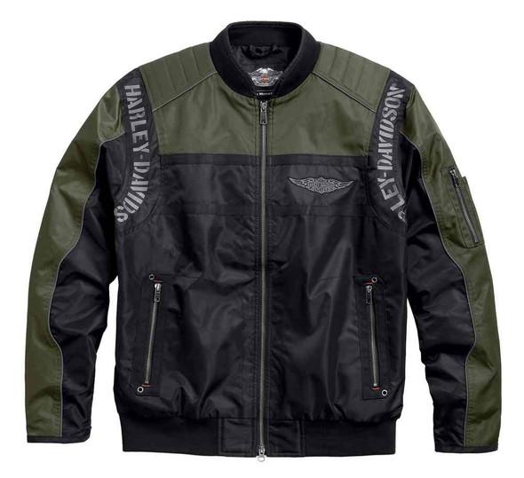Harley-Davidson Men's Warwick Colorblocked Nylon Bomber Jacket 97586-17VM - Wisconsin Harley-Davidson
