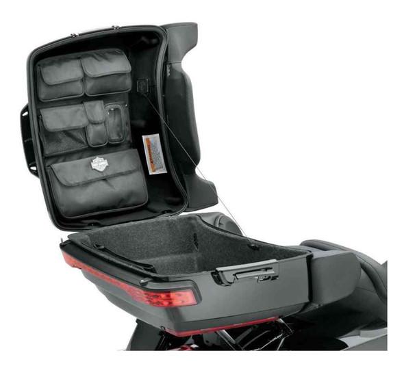 Harley-Davidson Tour-Pak Lid Fitted Lining w/ Organizer, Premium Black 53000392 - Wisconsin Harley-Davidson