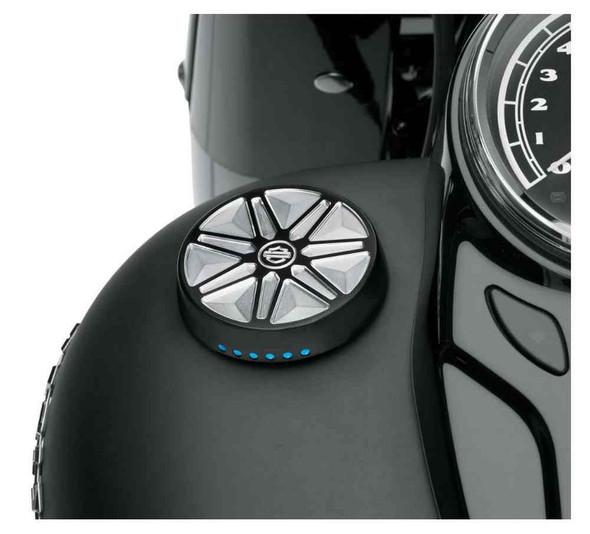 Harley-Davidson Chisel LED Fuel Gauge, Fits Dyna, Softail & Touring 70900354 - Wisconsin Harley-Davidson