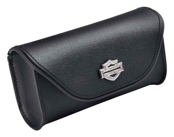 Harley-Davidson Diamond Ice Bar & Shield Leather Windshield Bag, Black 93300055 - Wisconsin Harley-Davidson