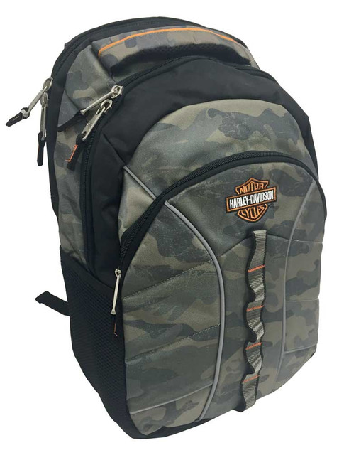 Harley-Davidson Bar & Shield Laptop Backpack, 19.5 x 13.5 in, Camo 99913 CAMO - Wisconsin Harley-Davidson