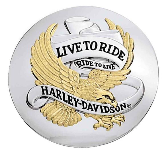 Harley-Davidson Live To Ride Fuel Cap Medallion, Adhesive Backing 99667-04 - Wisconsin Harley-Davidson