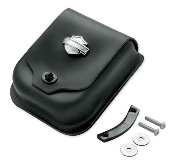 Harley-Davidson Bar & Shield Concho Leather Sissy Bar Bag, Black 52997-98 - Wisconsin Harley-Davidson