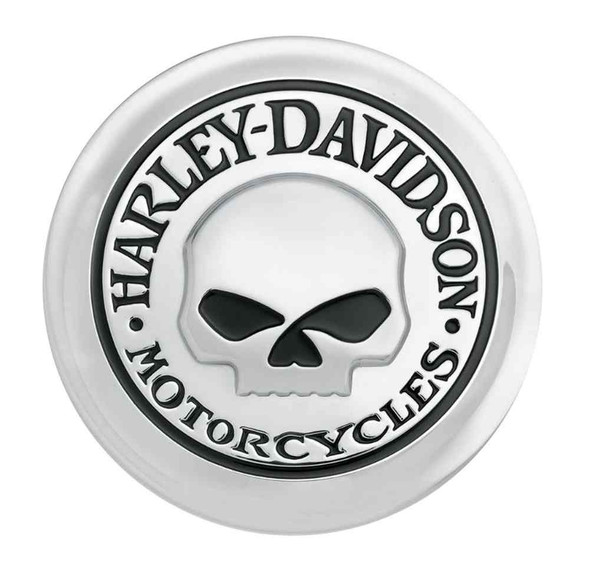 Harley-Davidson Willie G Skull Fuel Cap Medallion, Adhesive Backing 99669-04 - Wisconsin Harley-Davidson