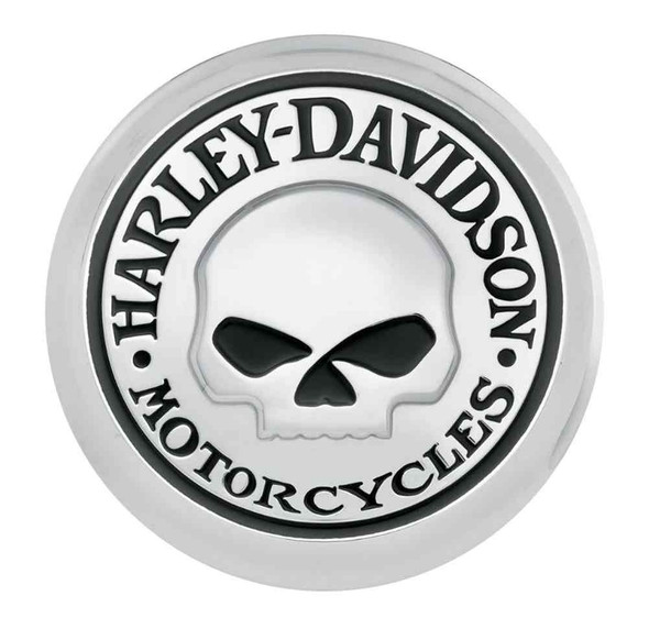 Harley-Davidson Willie G Skull Fuel Cap Medallion, Adhesive Backing 99670-04 - Wisconsin Harley-Davidson