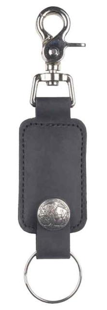 Mascorro Biker Styked Buffalo Snap Valet Key Fob, Metal Key Ring & Leather UB23B - Wisconsin Harley-Davidson