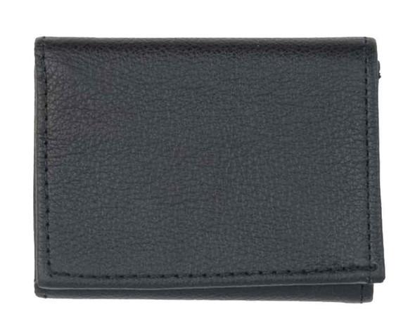 Genuine Leather Men's Fine Tri-Fold Smooth & Soft Leather Wallet, Black FT803B - Wisconsin Harley-Davidson