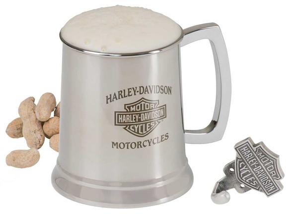 Harley-Davidson Bar & Shield Motorcycle Stainless Steel Mug and Hook Set, 18 oz. HDL-18607 - Wisconsin Harley-Davidson