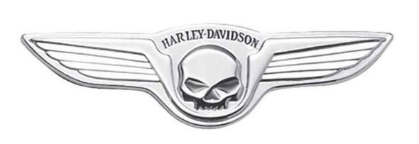 Harley-Davidson Chrome Winged Skull Decorative Medallion, 5 x 1.5 inch 91723-02 - Wisconsin Harley-Davidson