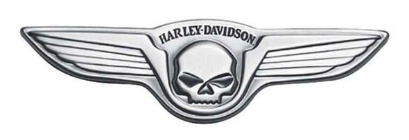 Harley-Davidson Antique Nickel Winged Skull Medallion, 5 x 1.5 inch 91732-02 - Wisconsin Harley-Davidson