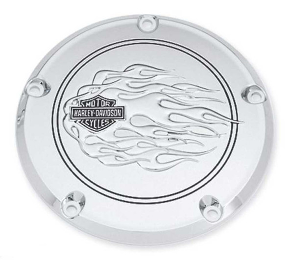 Harley-Davidson B&S Flames Derby Cover, Fit Dyna, Softail & Etc. Models 25336-06 - Wisconsin Harley-Davidson