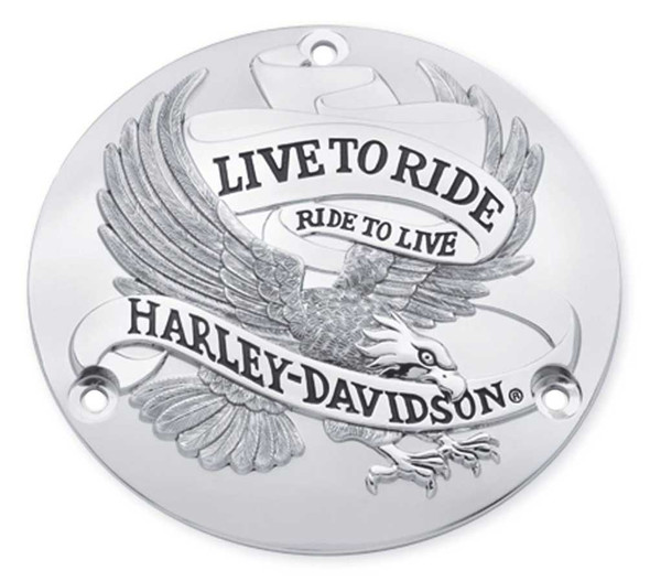 Harley-Davidson Live to Ride Derby Cover, Fits All '70-'98 Models 25391-84T - Wisconsin Harley-Davidson