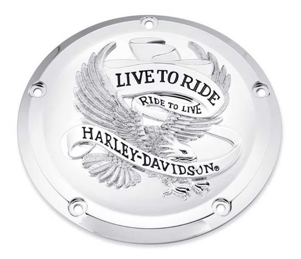 Harley-Davidson Live to Ride Derby Cover, Fits Touring & Trike Models 25700471 - Wisconsin Harley-Davidson