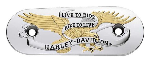 Harley-Davidson Live to Ride Gold Air Cleaner Trim, Fits XL Models 29823-04 - Wisconsin Harley-Davidson
