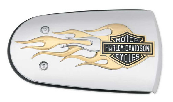 Harley-Davidson B&S Gold Flames Air Cleaner Trim, Fits Softail & Etc. 61300222 - Wisconsin Harley-Davidson