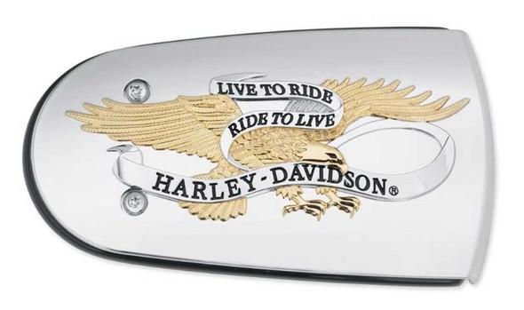 Harley-Davidson Live to Ride Gold Air Cleaner Trim, Fits Softail & Etc. 61300220 - Wisconsin Harley-Davidson
