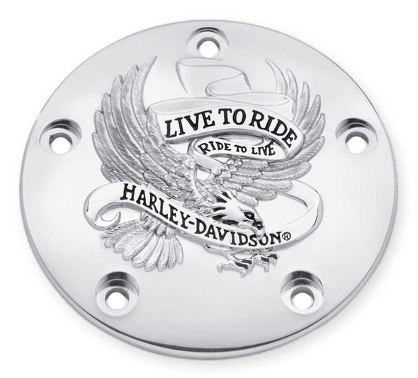 Harley-Davidson Live to Ride Timer Cover, Fits Twin-Cam Models 32698-02A - Wisconsin Harley-Davidson