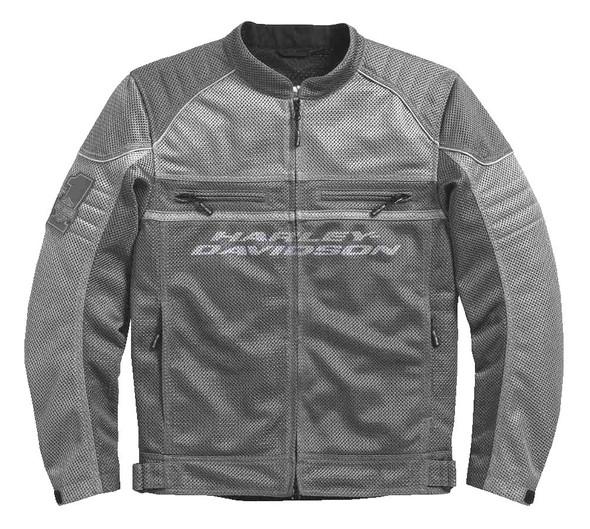 Harley-Davidson Men's Affinity Colorblocked Mesh Riding Jacket, Gray 98296-17VM - Wisconsin Harley-Davidson