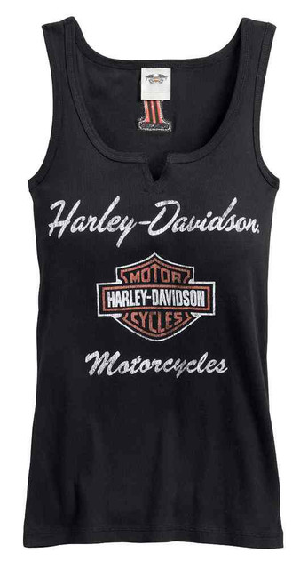 Harley-Davidson Women's Classic Notch-Neck Sleeveless Tank Top 99140-17VW - Wisconsin Harley-Davidson