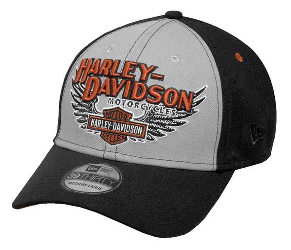 Harley-Davidson Men's Eagle Wings 39THIRTY Baseball Cap, Black 99459-17VM - Wisconsin Harley-Davidson