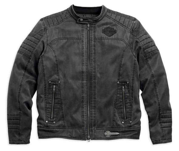 Harley-Davidson Men's Decklyn Distressed Casual Jacket, Black 97587-17VM - Wisconsin Harley-Davidson