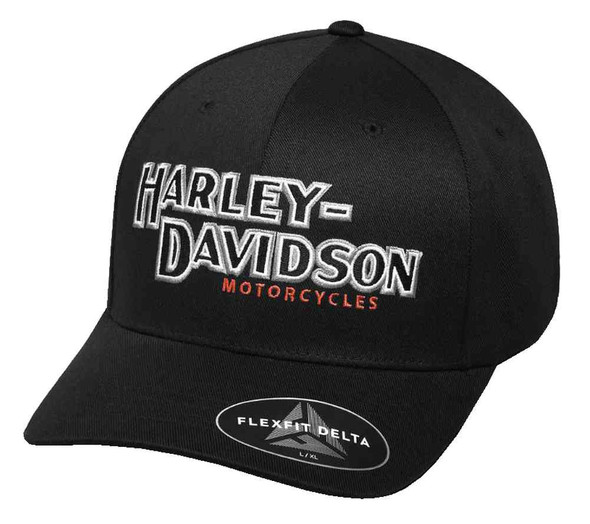 Harley-Davidson Men's Performance Iconic Delta Tech Baseball Cap 99456-17VM - Wisconsin Harley-Davidson