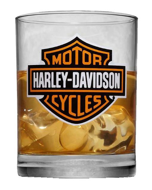 Harley-Davidson Bar & Shield Logo Double Old Fashioned Glass, 11.75oz. 99201-17V - Wisconsin Harley-Davidson