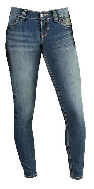 Harley-Davidson Women's Skinny Slim-Fit Low-Rise Jeans, MD Indigo 99130-17VW - Wisconsin Harley-Davidson