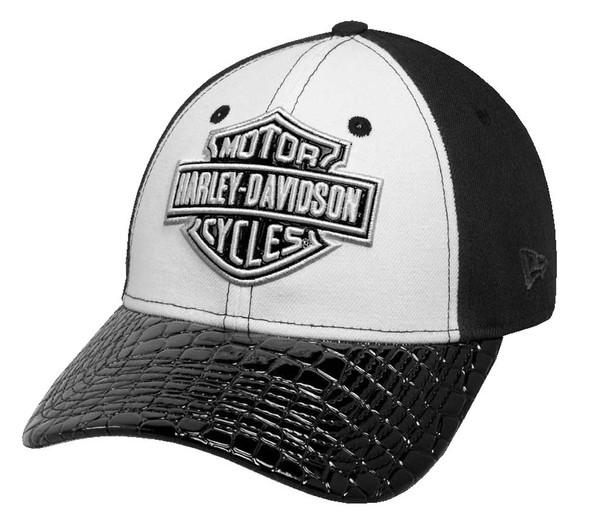 Harley-Davidson Women's Colorblock B&S Crocodile Baseball Cap, Black 99565-17VW - Wisconsin Harley-Davidson