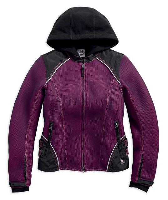 Harley-Davidson Women's Pink Label 3-IN-1 Mesh Riding Jacket 98319-17VW - Wisconsin Harley-Davidson
