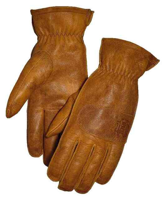 Harley-Davidson Women's Work-Wear Inspired Goat Skin Gloves, Tan 98355-17VW - Wisconsin Harley-Davidson