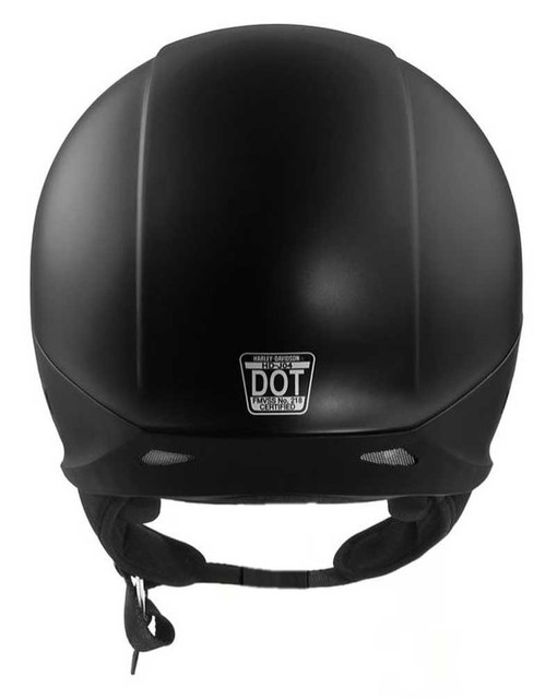 Harley-Davidson Men's Delton Sun Shield J04 5/8 Helmet, Black 98308-17VX - Wisconsin Harley-Davidson