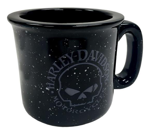 Harley-Davidson Campfire Willie G Skull Coffee Mug, 12 oz. Black HD-WGS-2206 - Wisconsin Harley-Davidson