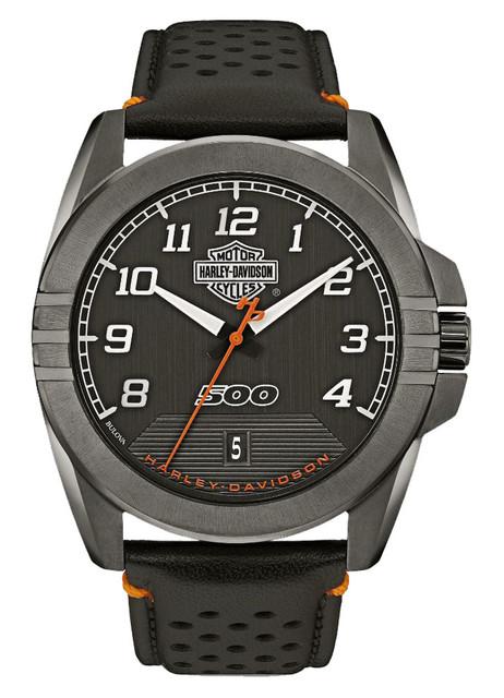 Harley-Davidson Men's B&S Rugged Stainless Steel Watch, Gunmetal Finish 78B143 - Wisconsin Harley-Davidson