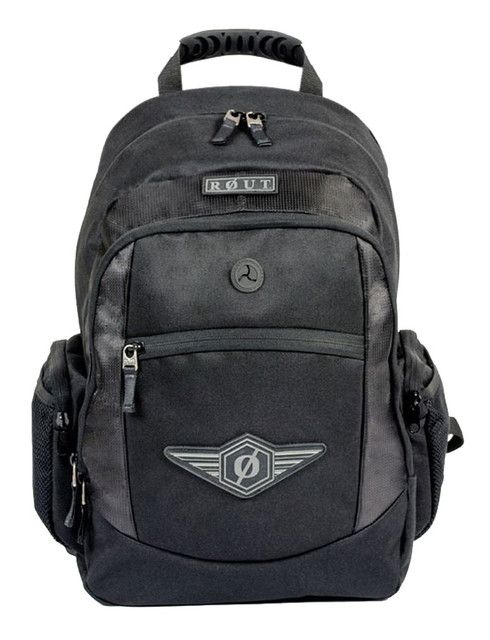 ROUT Adventurer Classic Backpack, Durable & Tough Nylon, Solid Black RBP9123 - Wisconsin Harley-Davidson
