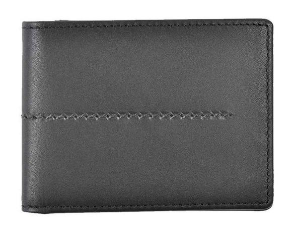ROUT Entrepreneur Classic Billfold Wallet, Full Grain Black Leather RLN30524 - Wisconsin Harley-Davidson