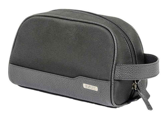 ROUT Explorer Clamshell Toiletry Shave Kit Ballistic Nylon/Leather Trim RBN23074 - Wisconsin Harley-Davidson