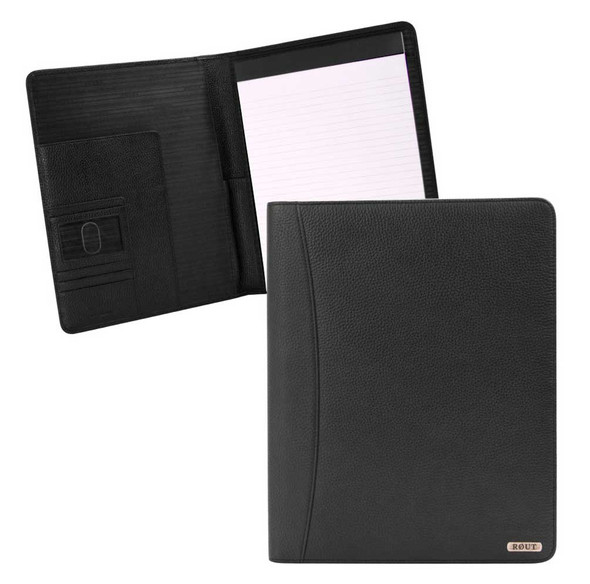 ROUT Competitor Milled Leather Writing Pad, 10.25 x 12.5 inches, Black RBN25518 - Wisconsin Harley-Davidson