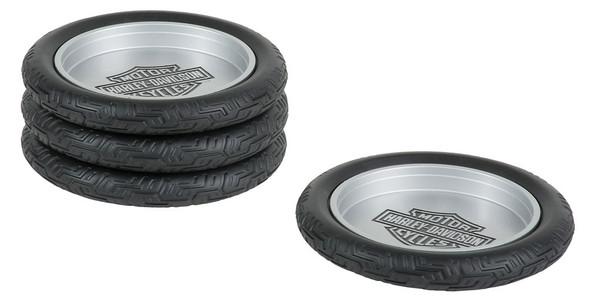 Harley-Davidson Bar & Shield Logo Tire Coasters Set, Set of 4 HDL-18564 - Wisconsin Harley-Davidson