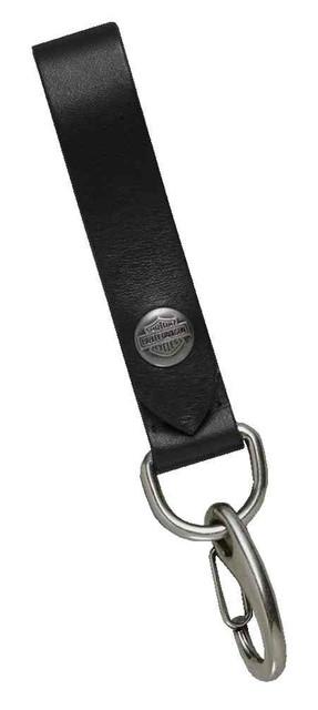 Harley-Davidson Men's Bar & Shield Snap Leather Key Fob, 6.75 Inch 97854-17VM - Wisconsin Harley-Davidson