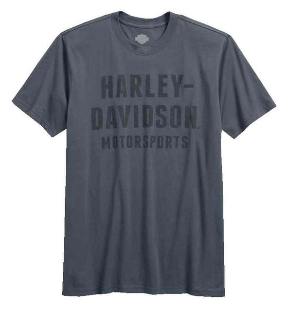 Harley-Davidson Men's MotorSports Short Sleeve T-Shirt, Insignia Blue 96530-17VM - Wisconsin Harley-Davidson