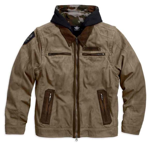 Harley-Davidson Men's Hayden 5-IN-1 Work Wear Casual Jacket, Brown 97588-17VM - Wisconsin Harley-Davidson