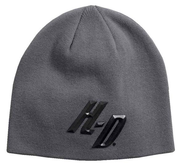 Harley-Davidson Men's 3D H-D Knit Beanie Hat, Castlerock Gray 97612-17VM - Wisconsin Harley-Davidson