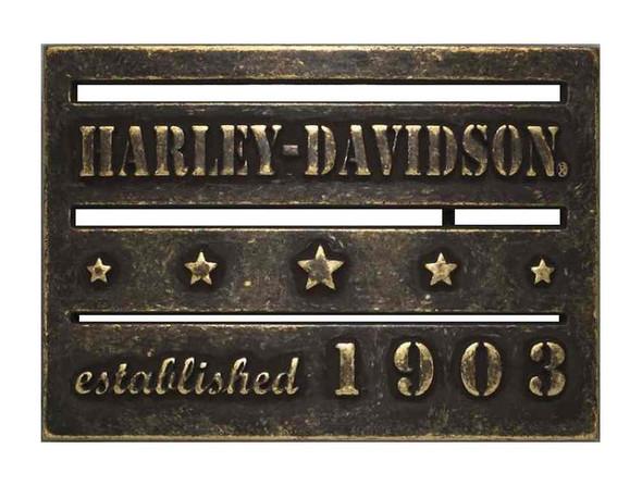 Harley-Davidson Men's Established 1903 Belt Buckle, Antique Brass 97848-17VM - Wisconsin Harley-Davidson