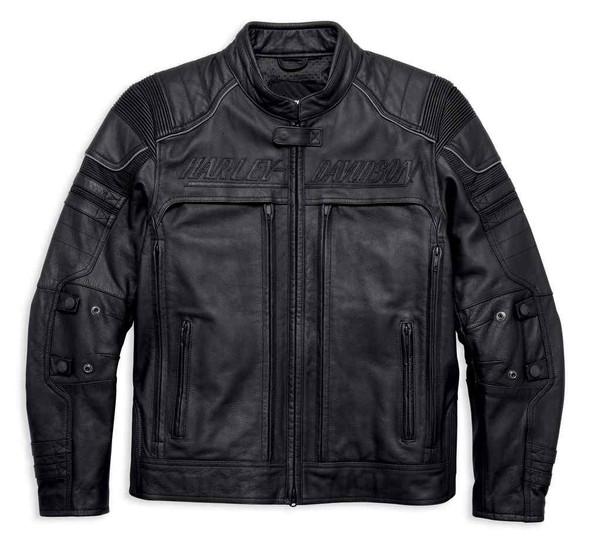 Harley-Davidson Men's Erving Pocket System Leather Jacket, Black 97139-17VM - Wisconsin Harley-Davidson