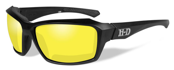 Harley-Davidson Men's Cannon Sunglasses, Yellow Lens / Matte Black Frame HACNN13 - Wisconsin Harley-Davidson
